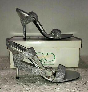 Wild Rose High Heels Size 7 NWB Silver Stretch Tie Strap
