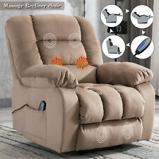 Massage Recliner Chair with Heat Vibration RC Overstuffed Reclining Lounge Sofa