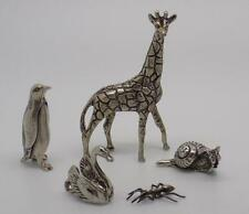 52g JOB LOT / Animal Collection #8 - 5 x Vintage Italian Silver Miniatures