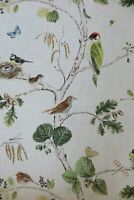 SANDERSON CURTAIN FABRIC DESIGN Woodland Chorus 3.1 MTR LINEN/MULTI LINEN BLEND
