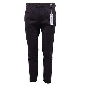 6679Q pantalone uomo DANIELE ALESSANDRINI GREY blu pant trouser men