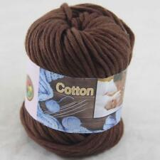Sale 1Ball x50g Super Soft Cotton Chunky 16 Ply DIY Hand Wrap Shawl Knit Yarn 14