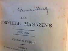 Thomas Hardy (hand Signed) Novel 1875 + Bonus