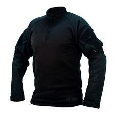 TRU-SPEC 2588 1/4 Zip Winter Combat Shirt - BLACK - FREE SHIPPING