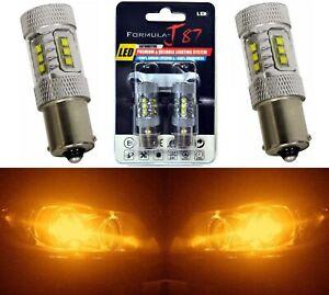 LED Light 80W 1156 Amber Orange Two Bulbs Rear Turn Signal Replace Stock Lamp OE