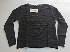 James Lakeland Stripy Knit Jumper Black Size XL UK 16 REF: C6595^