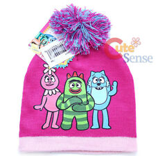 Yo Gabba Gabba Beanie Kids Warm Knitted Hat with Furry Ball Foofa Brobee Flex