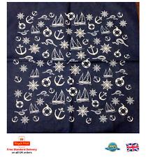 Ship Cruise Sign Yacht Anchor Design Sailor Bandanna Head Wear Bands Scarf Neck