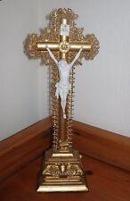 Superbe et rare grand crucifix doré - XIXe siècle