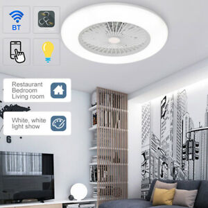36W Ceiling Fan with LED Light Dimmable Wind Speed Adjustment APP Remote Control