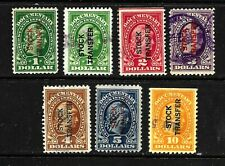 HICK GIRL-OLD USED U.S. DOCUMENTARY STAMPS  STOCK TRANSFER      X7069