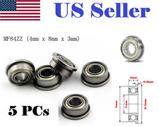 5pcs MF84ZZ LF840ZZ Shielded Flanged Model Ball Flange Bearing 4 x 8 x 3mm