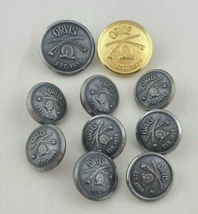 Waterbury Orvis Rod and Reel Buttons Lot of 10