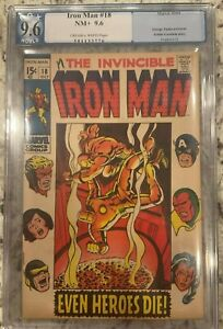 IRON MAN #18 PGX 9.6!!  Huge Auction going on!! AVENGERS COVER!! NOT CGC
