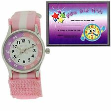 Reflex Time Teacher Pink & White Easy Fasten Refk0005 Telling Time Award