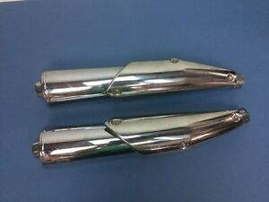 LaFranconi Mufflers Moto Guzzi C-1028 SX DX Eldorado?  Chrome Set 2 Right Left