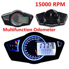 Motorcycle 15000RPM LCD Digital Odometer Speedometer Tachometer Gauge Universal