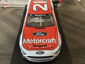 Signed Matt Dibenedetto 2021 #21 Wood Brothers Motorcraft Ford Autographed