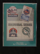 1993 OFFICIAL PROGRAM ' NEW YORK METS VS FLORIDA MARLINS ' 1ST SERIES EVER 'MINT