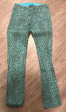 ONE by BLEULAB Reversible Detour Legging Jeans Teal Pearl Coating / Cheetah 26