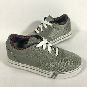 Heelys Launch Skate Shoes, Youth Size 1, Gray/ White
