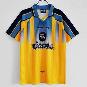 Chelsea 1995 1997 Away Zola GULLIT Retro Soccer Jersey Football Shirt