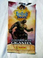 Fantasy Riddees La invasion de los gigantes Cromos Panini sobre ciego