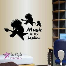 Vinyl Decal Music is My Fashion Quote Rock Guitar Player Room Decor Sticker 1460