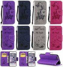 Chainsaw/bear & Butterfly Wallet Leather Flip Case Cover For Samsung Galaxy