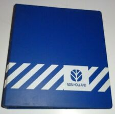 "* New Holland Dealers 3-Ring Parts Service Shop Manual Catalog Book Binder 2"" nh"