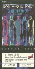 RARE / TICKET DE CONCERT LIVE - JEAN MICHEL JARRE A VITROLLES 1993 / COMME NEUF