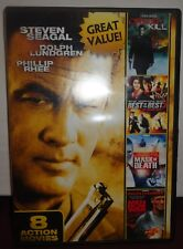 Used DVD - 8 Action Movies -Steven Seagal -Chuck Norris -Driven to Kill - 2 disc