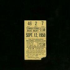 9-12-1950 St Louis Cardinals @ Philadelphia Phillies Ticket - Roberts CG Win