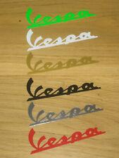 2 VESPA Decals Stickers Scooter Motorbike Motorcycle Tank Fairing Helmet Wheels
