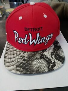 RSVP Gallery x Mitchell & Ness Detroit Red Wings Snakeskin Adjustable Hat Hockey