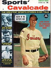 1962 OCT Sports Cavalcade baseball magazine Bob Feller, Cleveland Indians VG