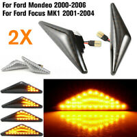 2Pcs Dynamic LED Side Indicator Signal Light For Ford Focus Mondeo MK1 00-06