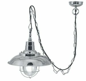 Ship Lamp,Ceiling Light,Hanging Lamp, Steamboat Lamp Nickel Plated