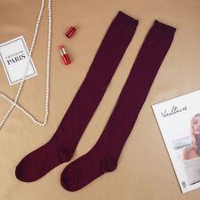 cb59980120c Fashion Women Girl Cotton Long Socks Stripe Sports Over Knee Thigh High  Stocking