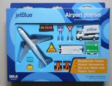 JET BLUE AIRWAYS AIRPLANE AIRPORT PLAYSET TRUCK SIGNS ETC DARON TOYS DIECAST