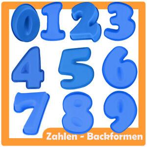 Silikon Backform Zahl 0-9 Geburtstag Kuchen Party Nummer Kuchenform Happy Jahr