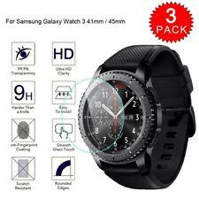 3 (Pack) Para Samsung Galaxy Watch 3 41mm/45mm Protector de Pantalla de Vidrio Templado