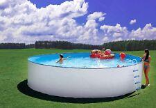 Pool komplett Set Stahlwand Schwimmbecken Schwimmbad 4,50 X 1,20m rund