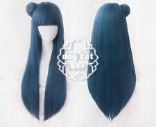 Love Live! Sunshine! Aqours Tsushima Yoshiko Straight Blue Cosplay wig