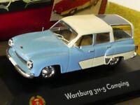 1/43 Atlas DDR Auto Kollektion Wartburg 311-5 Camping hellblau beige 7230 030