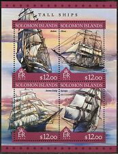 SOLOMON ISLANDS 2016 TALL SHIP SHEET MINT NEVER HINGED