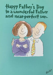 Funny Father's Day Greeting Card - Near Perfect Son