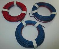 ( 0,397€/ M) Conducteur Jumelé Rouge/Bleu 3 X 5m, Neuf