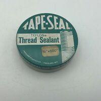 Vintage Tape Seal Thread Sealant Friesland WI Plastics Advertising Empty Tin Y6