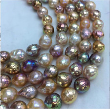 """AAA 12-13 mm  Japanese Kasumi  pearl necklace 18 """" 14 K Gold"""